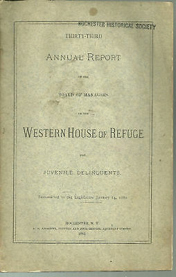 1882 Annual Rpt- Western House of Refuge DELINQUENTS