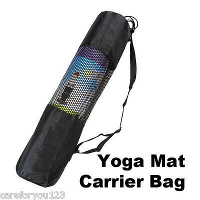 Yoga Mat Carrier Bag Mesh Center Adjustable Strap Nylon