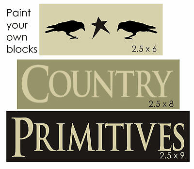 STENCIL Country Primitives Crow Star Craft Signs Blocks