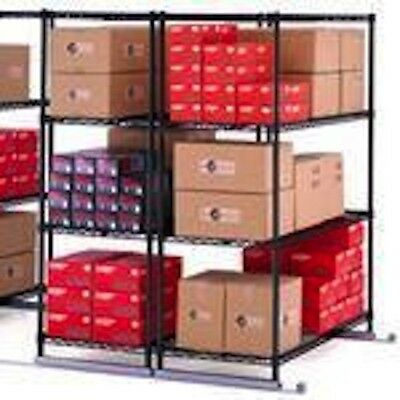 "OFM X5L3-4824 Sliding Storage Shelf System 3 Units 48"" Long 24"" Wide 72"" High"