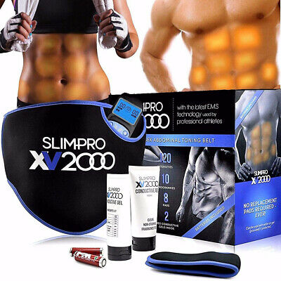 Toning Belt Abs Belts Muscle Abdominal Stomach Toner Exerciser Fitness XV2000