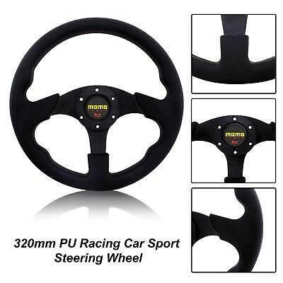 New Racer Black 350mm Sport Steering Wheel