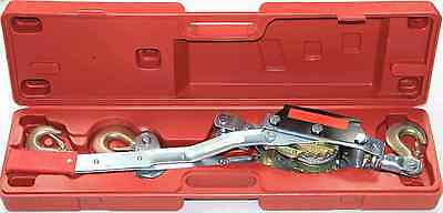 4 Ton Hand Winch Puller + Case 3 Hooks Comealong Hand Winches 4WD Multi Purpose