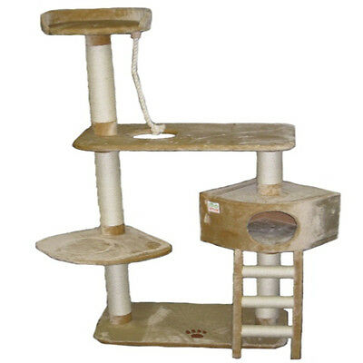 """64"""" Cat Tree House Toy Bed Scratcher Post Furniture F11"""