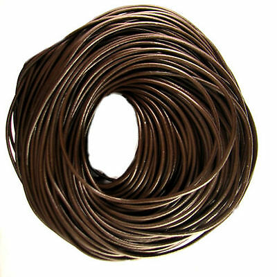 Leather Brown 2mm Thong Thonging Necklaces Cord Round Arts Crafts Bracelet Fine