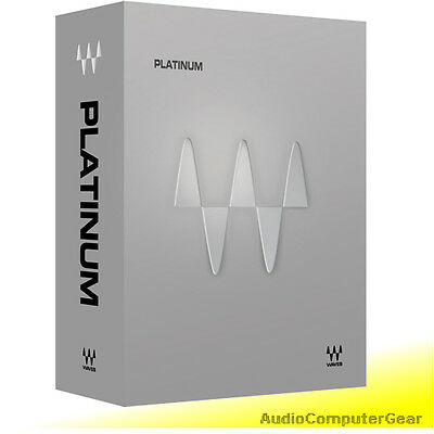 Waves PLATINUM Bundle Audio Software Effects Plug-in NEW