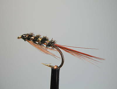 14 3 x GOLD HEAD DIAWL BACHS NYMPHS  sizes 10 12 16 available