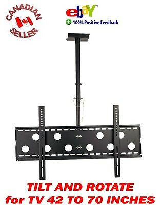 """42"""" to 70"""" CEILING TV MOUNT LCD LED PLASMA 47 49 50 51 52 55 60 62 65 67 rotate"""