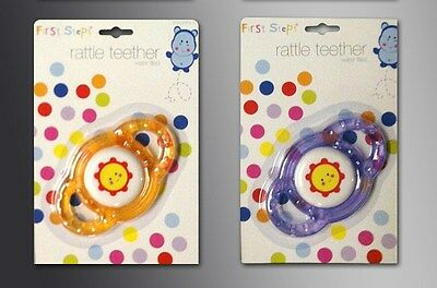 Brand New Water Filled Baby Rattle Teether Teething Rattler Children First Steps