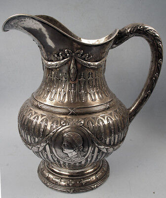 Large Hanua German Sterling Pitcher George Roth Caesar