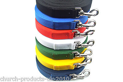 10ft Long Dog Training Leads,Obedience Leads,Leash,Large 25mm In Various Colours