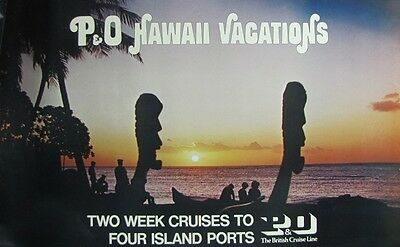 P&O Travel Agency Poster for Hawaii - Early 1970s