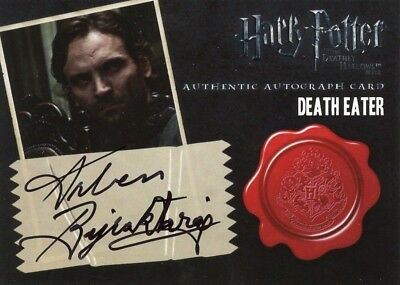 HARRY POTTER DEATHLY HALLOWS 2   Autograph Card DEater