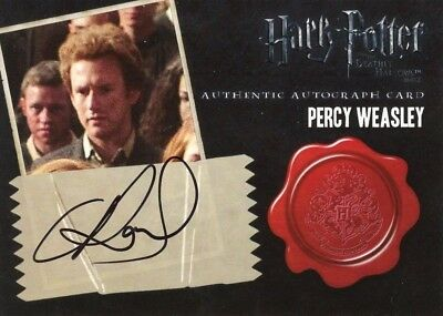 HARRY POTTER DEATHLY HALLOWS 2 Autograph Card Percy