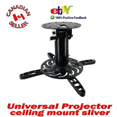 Universal HD LED LCD Video Projector Ceiling Mount BLK
