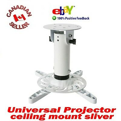 Universal HD LED LCD Video Projector Ceiling Mount SILV