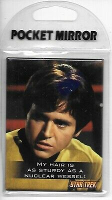 Star Trek The Original Series Ensign Chekov and Quote Pocket Mirror NEW SEALED