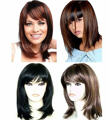 Ladies Short Medium Full Wig Hair Black Blonde Brown Fashion Wigs Forever Young