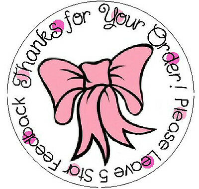 PRETTY PINK BOW - Round Seller Labels!