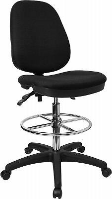 Adjustable Padded Drafting Stool with Footring