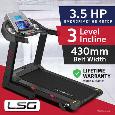 NEW LSG Wide 430mm Belt Electric Treadmill Quiet EverDrive® Motor