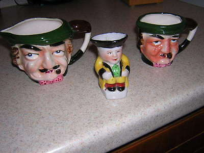 Toby Mugs Lot of 3 Made in Japan