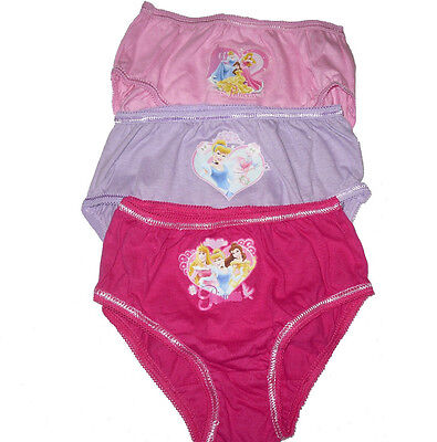 Girls 3 Pack Briefs/Knickers Disney Princess 18-5 Yrs