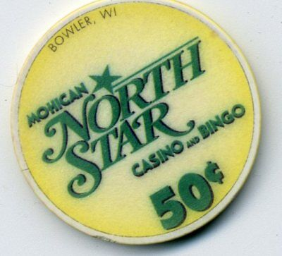 North Star  50 Cent  Wi.  Casino Chip   Wisconsin