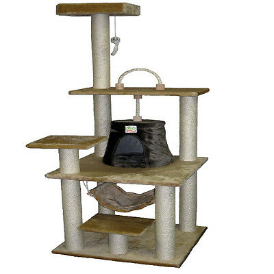 """65"""" Cat Tree House Toy Bed Scratcher Post Furniture F45"""