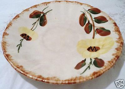 "Blue Ridge - SWEET SUE - DINNER PLATE 9 3/8"" DIAMETER YELLOW DAISY BROWN CENTER"