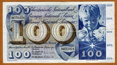 Switzerland, 100 Franken, 1973, P-49 (49o) VF-