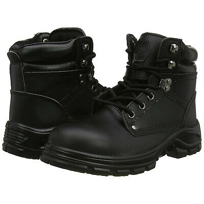 Blackrock Ultimate Work Boots Safety Steel Toe Caps Black Leather (SF08)