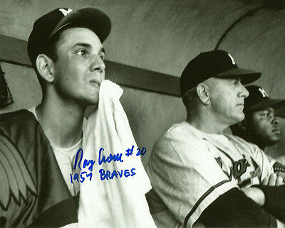 1957 WS CHAMPS Milwaukee Braves Pitcher RAY CRONE Signed 8x10 Photo #2 AUTO