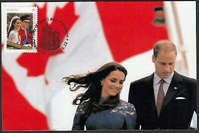 CANADA Sc# 2478 KATE & WILLIAM ROYAL VISIT to CANADA MAXICARD
