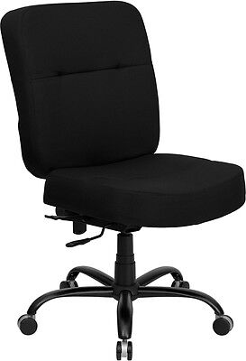 Wondrous Big Tall Fabric Computer Square Back Office Desk Chair 400 Lbs Weight Capacity Home Interior And Landscaping Palasignezvosmurscom