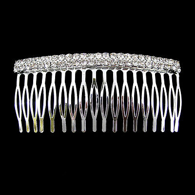 10cm Wide 2 Row Wedding Party Crystal Hair comb