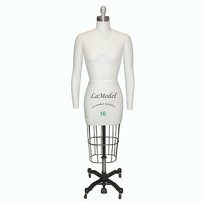 Professional Sewing Dress Form Size16 Collapsible Shoulders Removable Arms