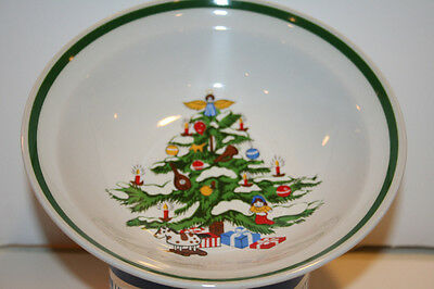 Montgomery Ward Stoneware Holiday Pattern Cereal Bowl Christmas Tree 1979 NEW