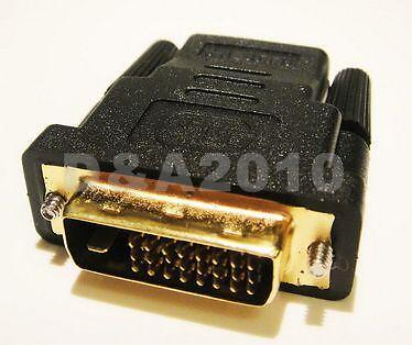 DVI Male plug to HDMI Female jack M-F Adapter Converter for HDTV 1080P PS3