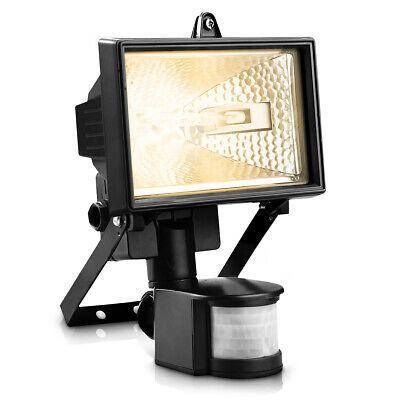 400W Halogen Floodlight With Pir Motion Sensor Garden Outdoor Security