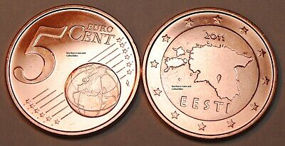 2011 Estonia 5 Cent Coin Unc from Roll BU Nice
