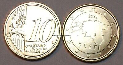 2011 Estonia 10 Cent Coin Unc from Roll BU Nice