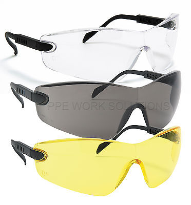 Portwest Lightweight Cycling Sports Safety Glasses Anti Scratch Curved Lens PW39