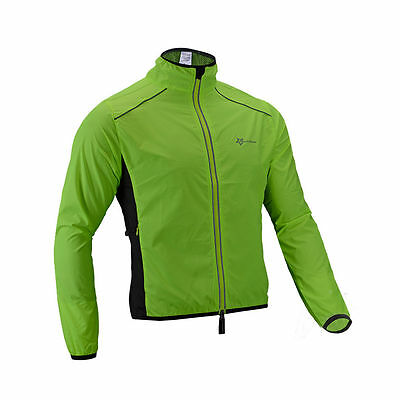 RockBros Bike Wind Coat Jacket Long Sleeve Cycling Reflective Jersey Green