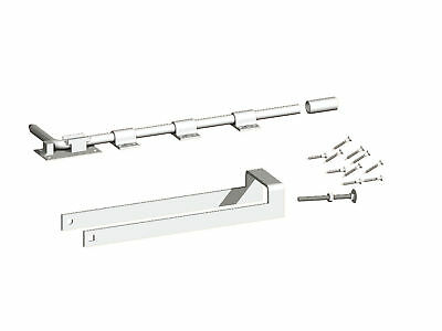 Birkdale Double Gate Latch Set - Drop Bolt & Throwover Loop - Galvanised