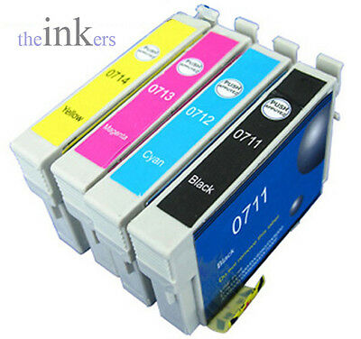 4 X Compatible Ink Cartridges Replace Epson T1291-T1295