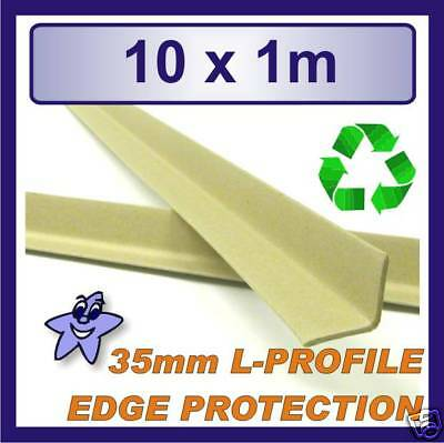 Cardboard Edge Protector 35mm x 35mm L Profile  10 x 1m Length