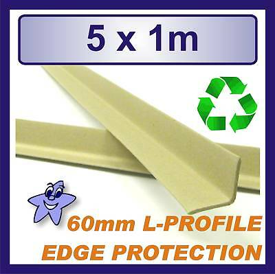 Cardboard Edge Protector 60mm x 60mm L Profile  5 x 1m Length