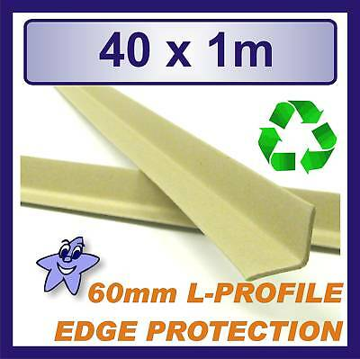 Cardboard Edge Protector 60mm x 60mm L Profile  40 x 1m Length