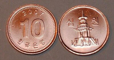 2007 South Korea 10 Won Coin BU Very Nice  KM# 103